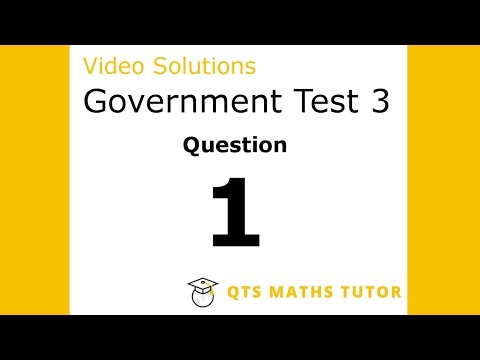 Test 3 Q1 –Numeracy Professional Skills Government Test Model Solutions