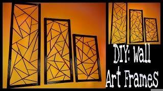 Diy: Wall Art Frames / Wall Decor/contemporary Wall Art