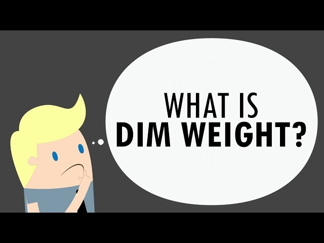 What Is DIM Weight?