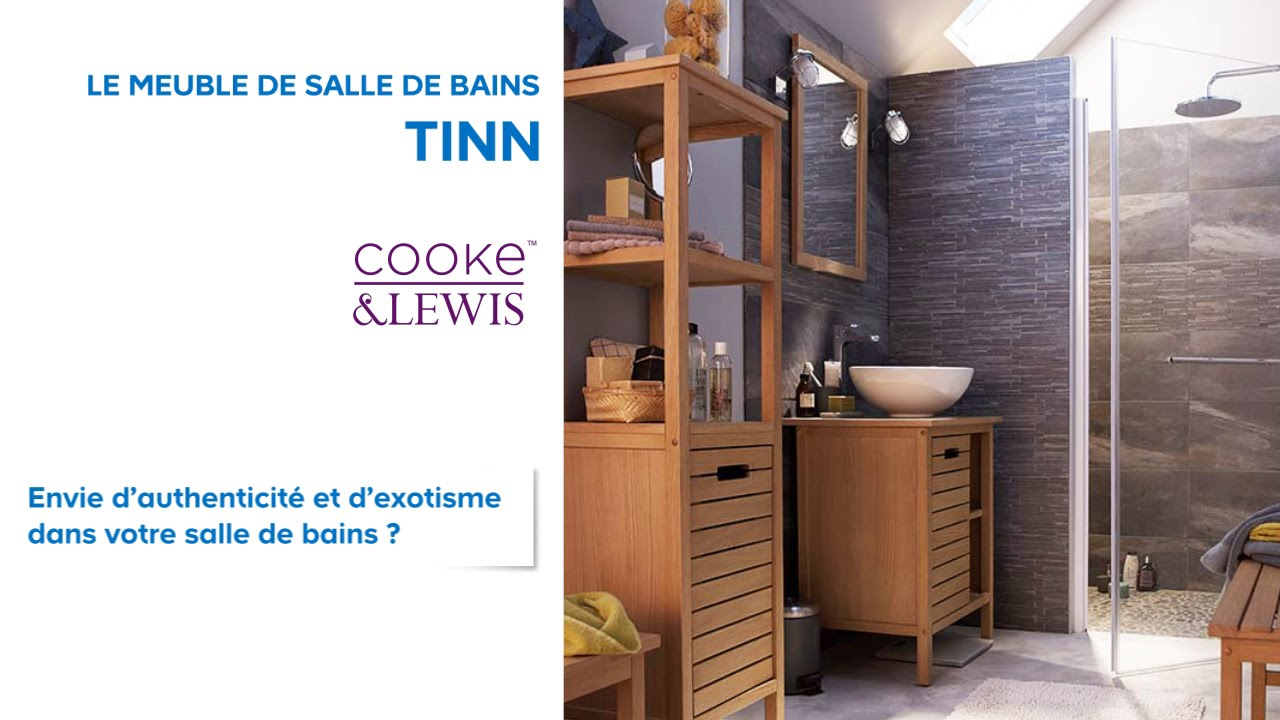 meuble de salle de bains tinn cooke lewis 667048 castorama youtube. Black Bedroom Furniture Sets. Home Design Ideas