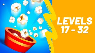 Popcorn Burst Game 3 Stars Walkthrough Level 17-32