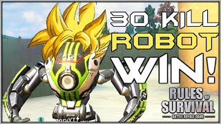 I GOT CARRIED😂 30 KILL WIN // I PLAY ROBOT! // Rules of Survival