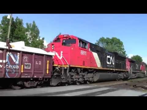 CN 8853 2611 & 8811 Leads CN 354 East At Hampton BC