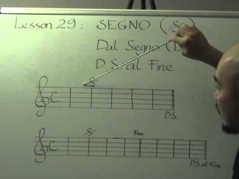 Nhạc lý căn bản bài 29( Segno)