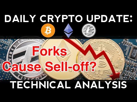 Daily Crypto Update (10/15/17) | Fork=Pullback? + Technical Analysis