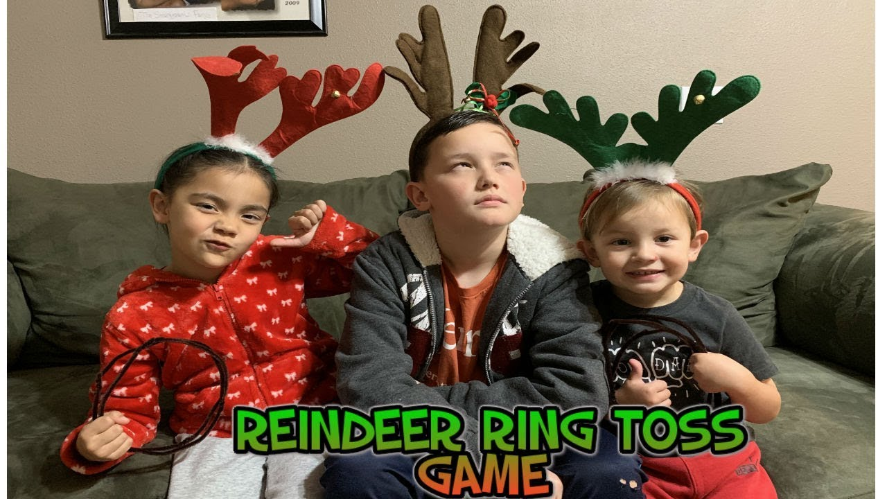 Reindeer Ring Toss Game Youtube