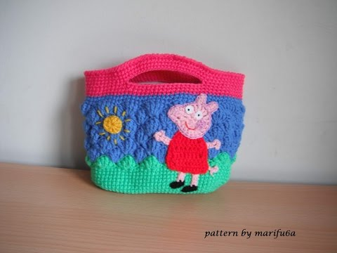 How To Crochet Hello Kitty Bag By Marifu6a Free Pattern Tutorial : Como tejer una Bolsita de Buho en Crochet (Video 1 ) Doovi