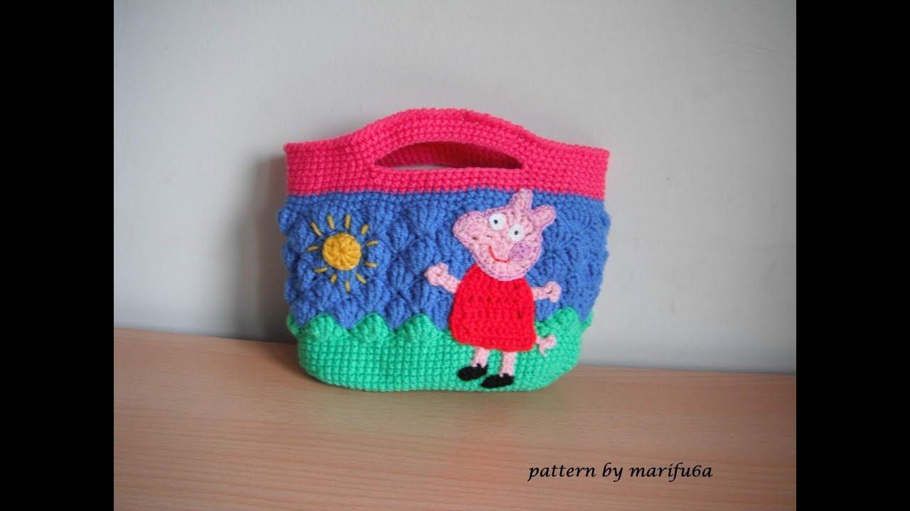 how to crochet peppa pig purse bag free pattern tutorial ...