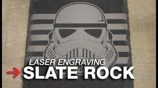 Laser Engraving Slate Coasters   Laser Etching Slate   Engraving Stone