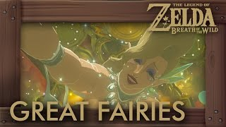 Zelda Breath of the Wild -  All Great Fairy Locations (How to Upgrade Armor)