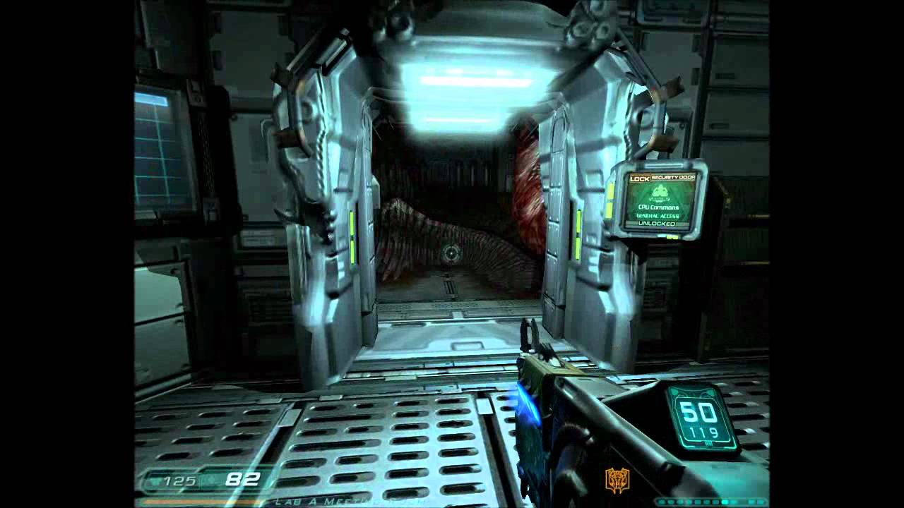 The Player Fighting A Revenant In Doom 3 Majority Of Takes Place Within Futuristic Base