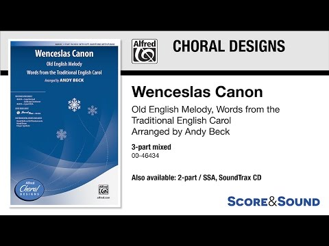Wenceslas Canon, arr. Andy Beck – Score & Sound
