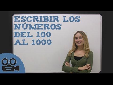 Escribir los números del 100 al 1000 - YouTube