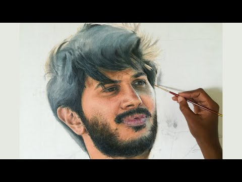 Painting Dulquer Salmaan | Oil on Canvas | Malayalam Actor