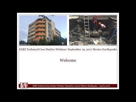 EERI Technical Case Studies Webinar:  September 19, 2017 Mex