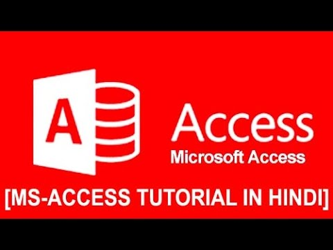 Ms- Office Access Tutorial In Hindi How To Create Form Design