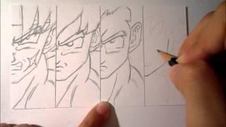 Dragon Ball-Drawing Bardock, Goku, Gohan and Goten