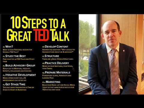 How to Prepare and Deliver a great TED talk