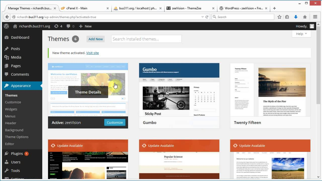 how to change wordpress themes without losing content