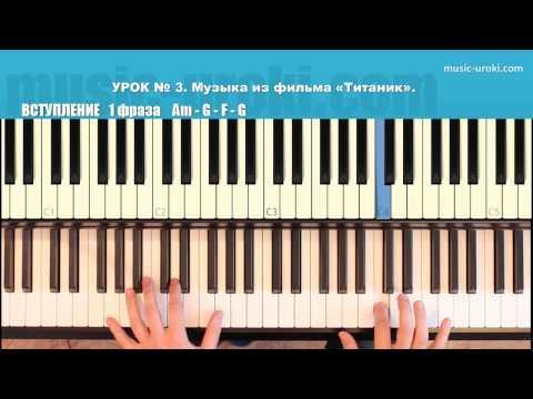 Титаник Titanic piano, My Heart Will Go On EASY piano tutorial  piano cover