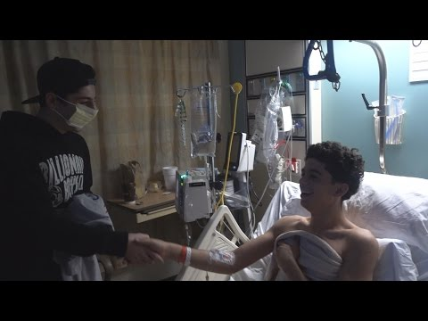 Surprising a Fan in the Hospital #PrayforAbe   FaZe Rug