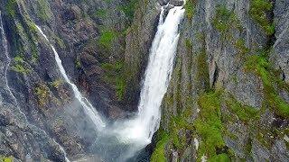 Norway by drone--Kjeåsen and Vøringfossen with Grieg accompaniment
