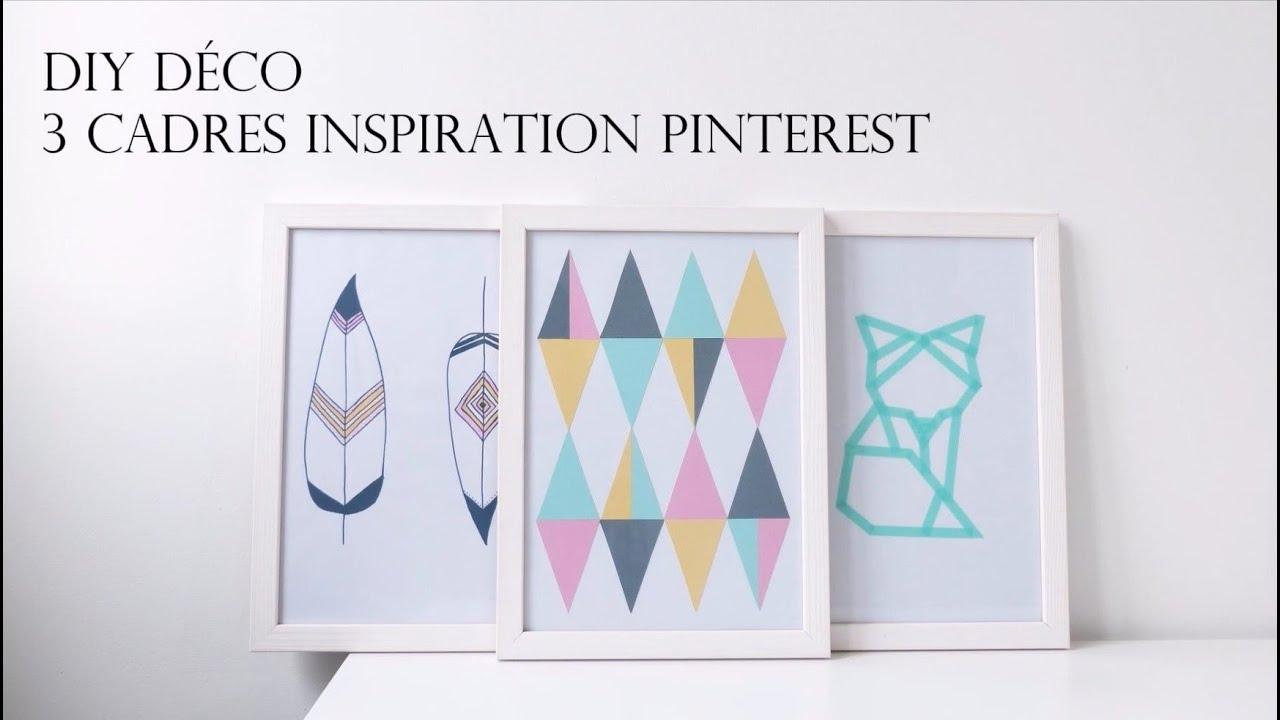 Diy d co 3 cadres inspiration pinterest for Pinterest fr