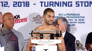 Sadam Ali vs Jaime Munguia weigh in (Video: Golden Boy Promotions)