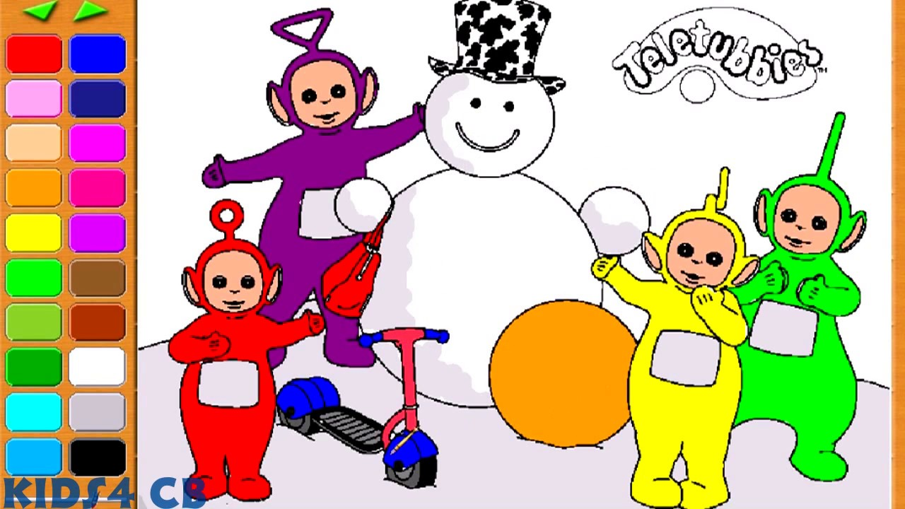 Teletubbies coloring page