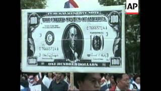 THAILAND: MARCH IN SUPPORT OF THAI HELP THAI CAMPAIGN STAGED