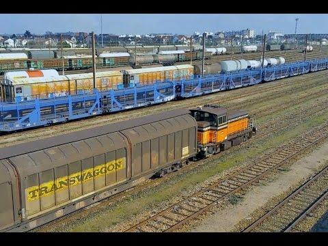 Gare de Triage du BOURGET / DRANCY Reportage + Trains de FRET, HLP, RER et TER SNCF