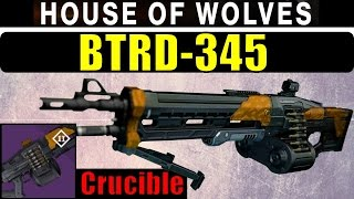 Destiny BTRD-345 Review | One of the BEST LEGENDARY MACHINE GUNS! | Crucible Drop