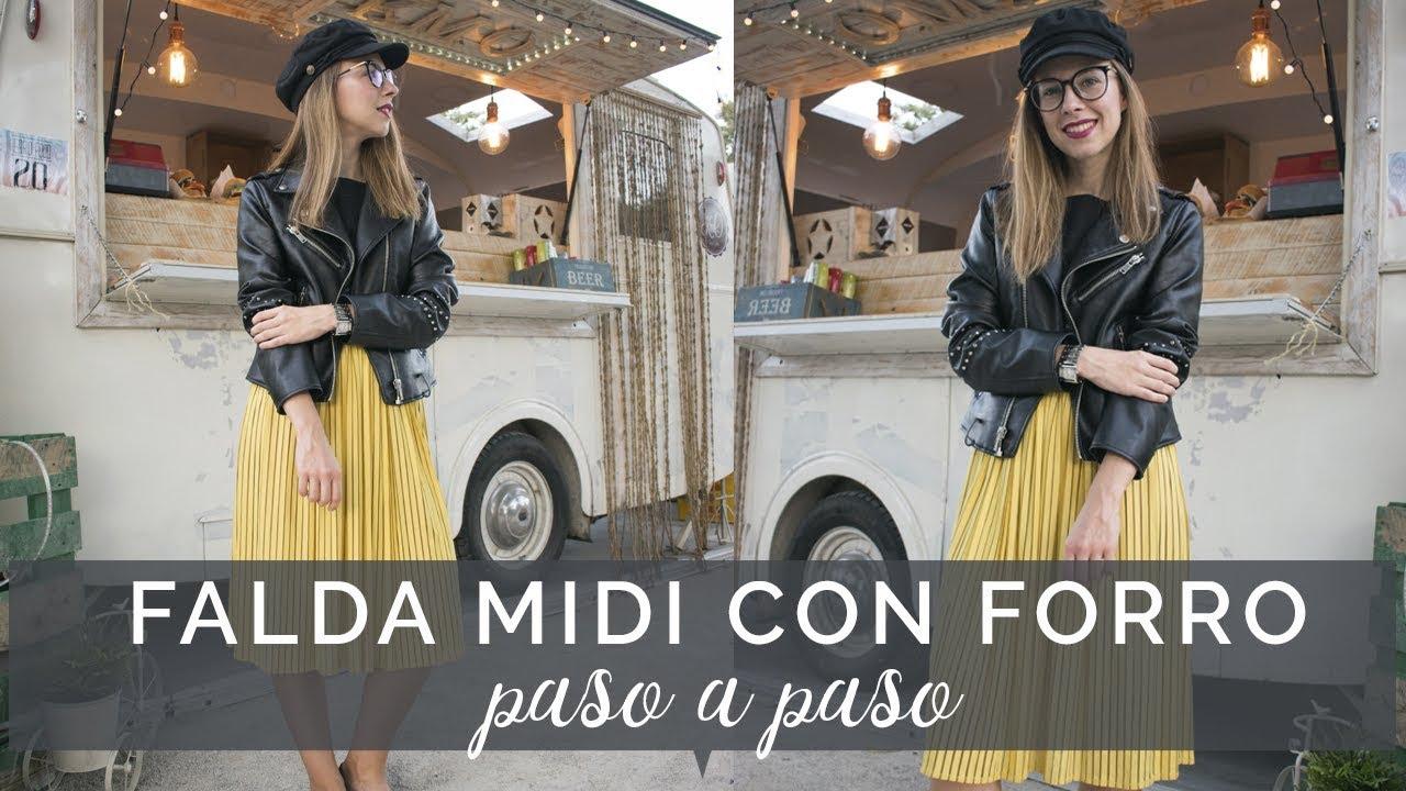 DIY~ Cómo hacer una falda midi con forro y vuelo paso a paso ¡sin patrones! 8960bcc6029f