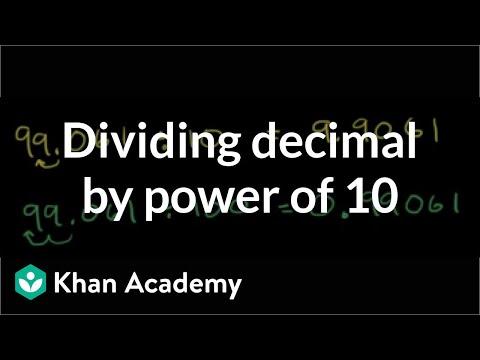 Dividing a decimal by a power of 10 | Decimals | Pre-Algebra | Khan Academy