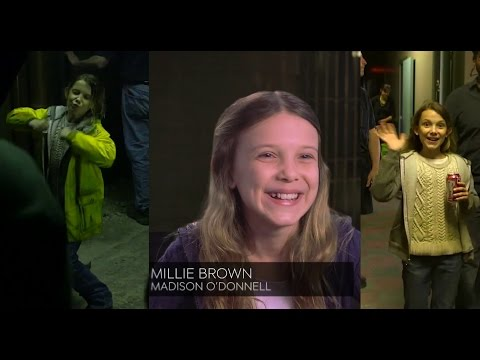 Millie Bobby Brown interview about her accents + Intruders cast on her acting skills