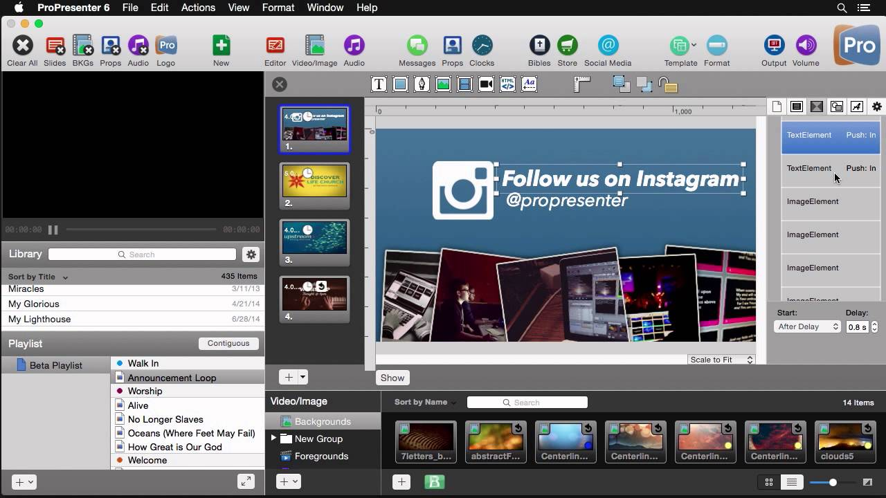 Learn about the new features of ProPresenter 6 Presentation
