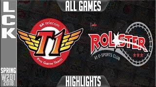 SKT vs KT Highlights ALL GAMES | LCK Spring 2018 S8 W2D2 | SK Telecom T1 vs KT Rolster Highlights