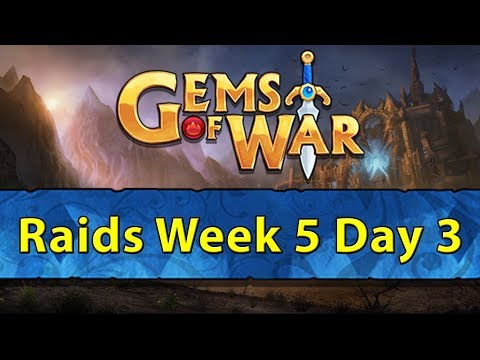 ⚔️ Gems of War Raids | Week 5 Day 3 | Testing New 4x Dragon Bonus ⚔️