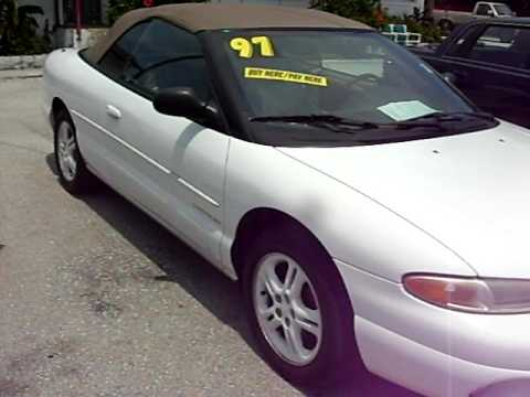 1997 chrysler sebring convertible loaded lxi youtube. Black Bedroom Furniture Sets. Home Design Ideas
