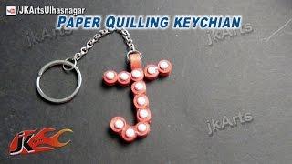 DIY Paper Quilling Alphabet Keychain JK Arts  564