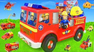 fireman Sam Unboxing: Jupiter Fire Truck Ride on, Rescue Station & Toy Vehicles for Kids