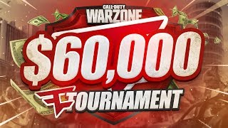 $60,000 FAZE WARZONE TOURNAMENT! - Week 4 (CoD Battle Royale)