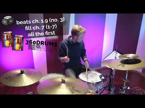 how to use the independance exercises (chapter 7, line 1-7 all the first) as drum fills