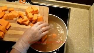 Суп из тыквы и чечевицы  Тыквенный суп пюре  Видео рецепт