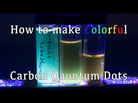 Colorful Quantum dots Made Using Table Sugar