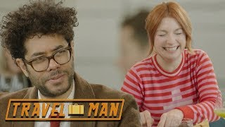 (EXCLUSIVE) Richard Ayoade & Alice Levine on eating out   Travel Man: 48hrs in...Tallinn