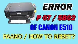 ERROR P07 & 5B02 | Paano /…