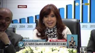 Visión 7 - El Gobierno Anunció En $ 6.060 El Nuevo Salario Mínimo, Vital Y Móvil