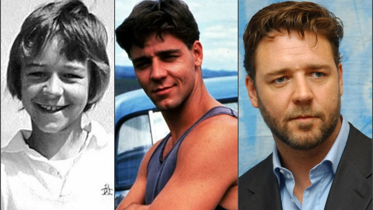 Russell Crowe through the years - YouTube