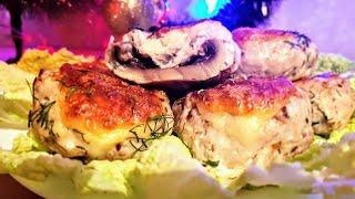 Фаршированные грибы шампиньоны цыганка готовит. Gipsy cuisine.